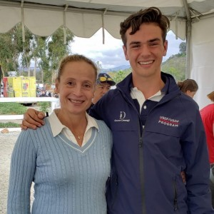 Christian with famous German Dressage Rider, Isabell Werth